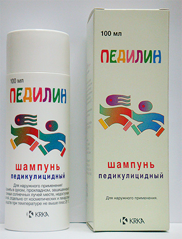 Шампунь для лечения педикулеза Педилин