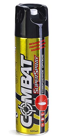 Аэрозоль Combat Superspray очень прост в применении