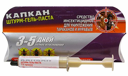 Гель Штурм для уничтожения домашних муравьев и тараканов