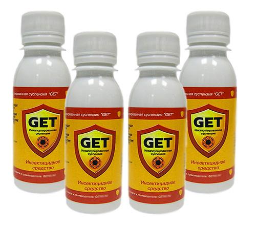 Современый инсектицидный препарат Get хорошо подходит также и для уничтожения ос.