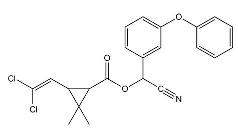 Химическая структурная формула циперметрина