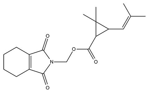 Химическая структурная формула тетраметрина