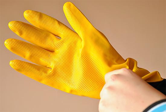 При работе со средством следует использовать стандартные средства индивидуальной защиты.