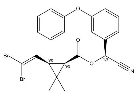 Инсектицид дельтаметрин, химическая структура