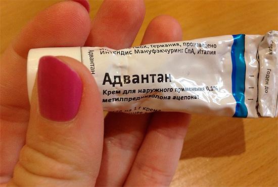 Крем Адвантан - помогает снять симптомы аллергии после укусов насекомых