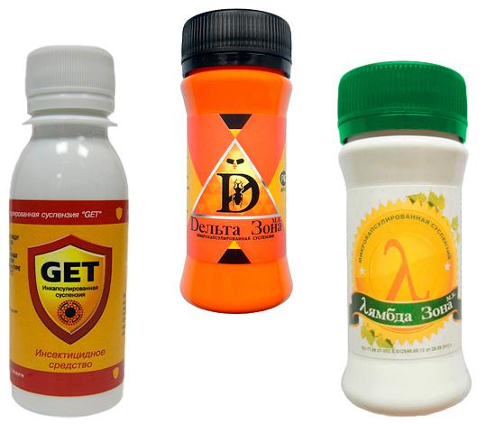 Микрокапсулированные средства от насекомых Get, Дельта Зона и Лямбда Зона.