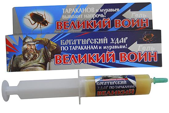 Средства от насекомых в виде инсектицидных гелей обычно достаточно эффективны против тараканов и муравьев.
