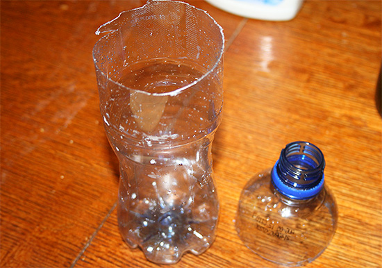 Высокоэффективную ловушку для ос легко изготовить самостоятельно из обычной пластиковой бутылки.