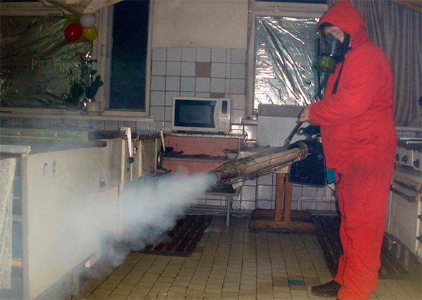 Одна такая процедура обработки квартиры с помощью генератора горячего тумана обойдется в несколько тысяч рублей.