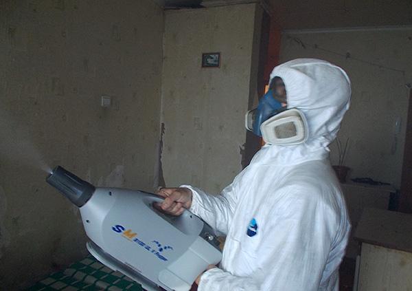 Пример обработки квартиры генератором холодного тумана
