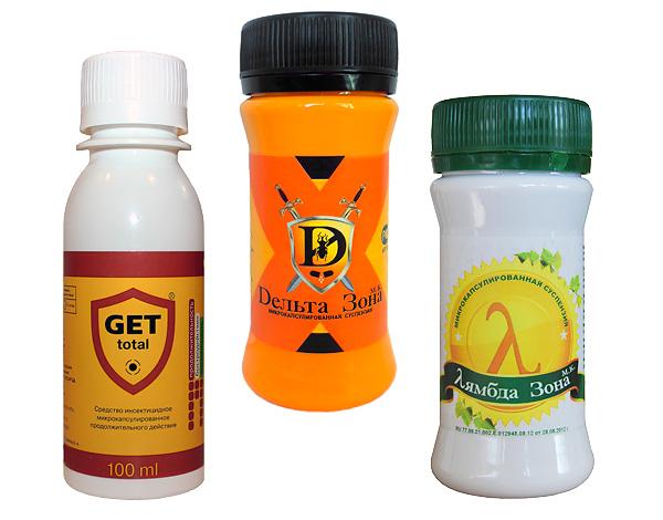 Высокоэффективные инсектицидные препараты Get, Дельта Зона и Лямбда Зона.