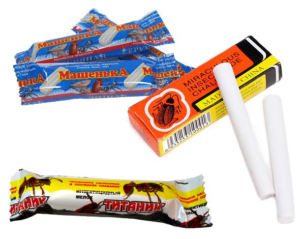Неплохо помогают уничтожать мокриц инсектицидные карандаши (мелки), из которых наиболее известен, пожалуй, карандаш от тараканов Машенька.