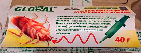 Отечественный гель от тараканов Global
