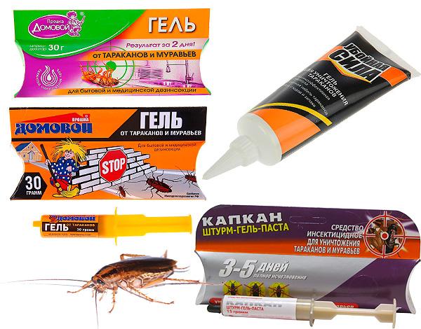 Рассмотрим свойства и нюансы применения некоторых популярных гелей от тараканов (Домовой-Прошка, Капкан, Киллер и некоторых других...)