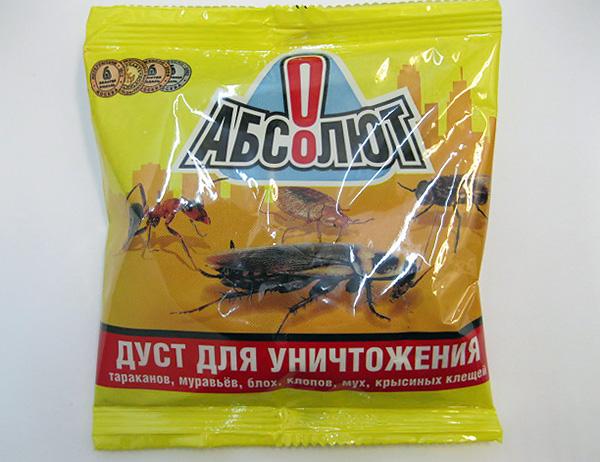 Дуст Абсолют для уничтожения тараканов и других насекомых.