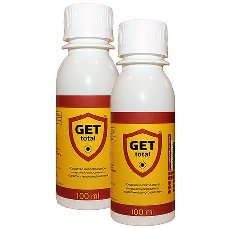 Популярный инсектицидный препарат Get Total эффективно уничтожает и пылевых клещей тоже.