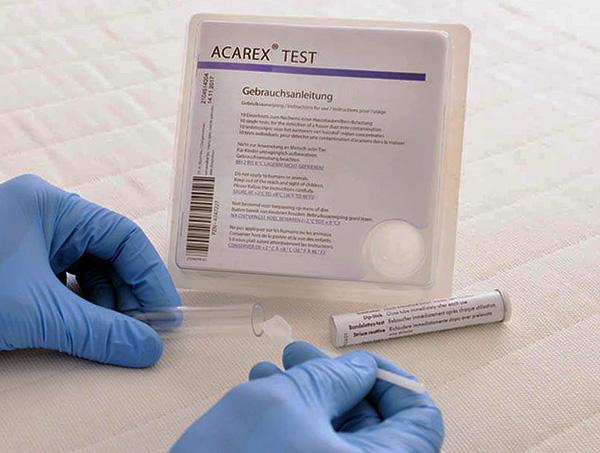 Существуют специальные химические тесты для определения клещевых аллергенов в пыли.