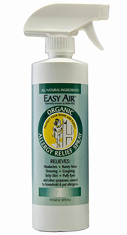 Спрей Easy Air позволяет уничтожать клещевые аллергены, присутствующие в пыли.