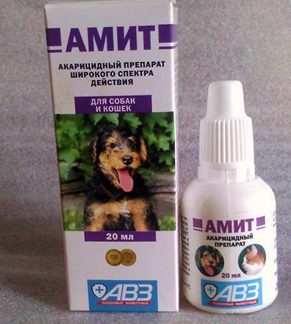 Ушные капли Амит для собак и кошек