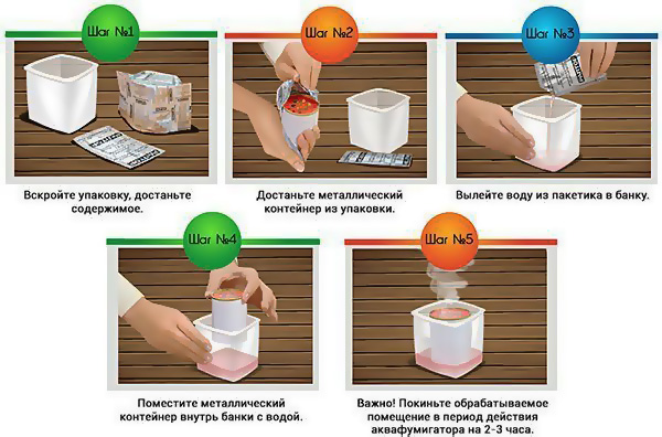 Порядок применения аквафумигатора