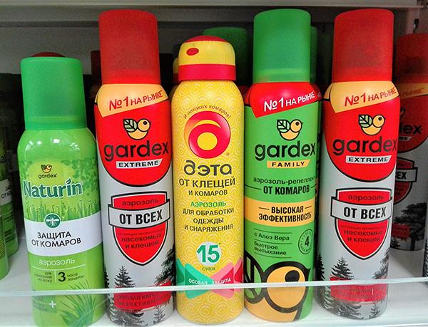 Аэрозоли от клещей и комаров
