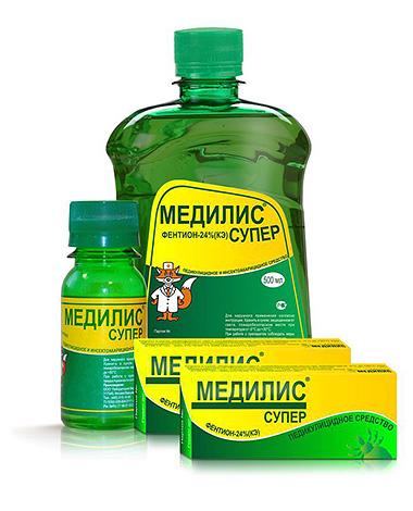 Популярное средство от клещей на участке Медилис Супер