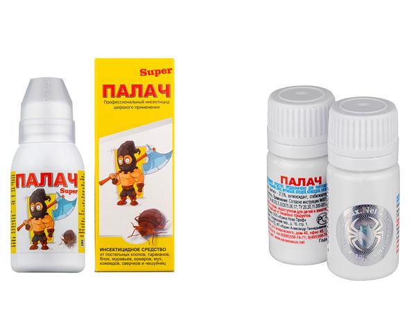 Слева - Палач Супер, справа - классический препарат